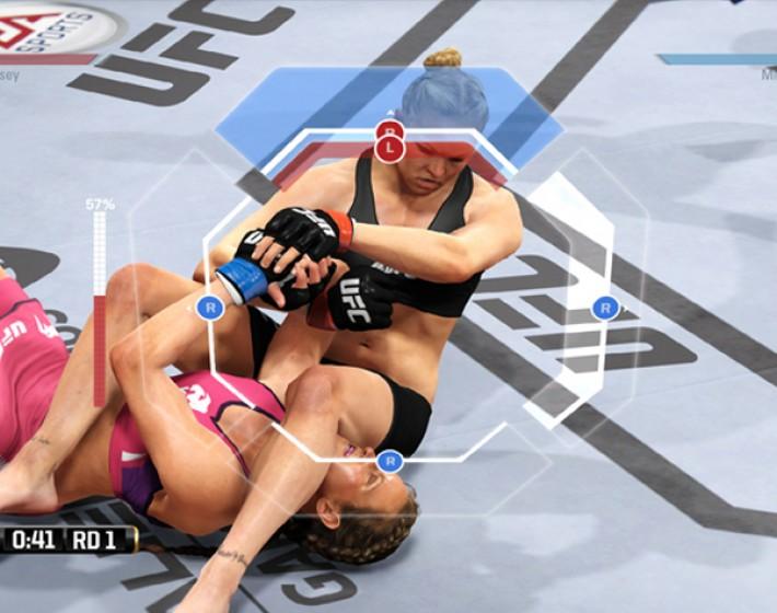 Novo gameplay de EA Sports UFC mostra sistema de submissão