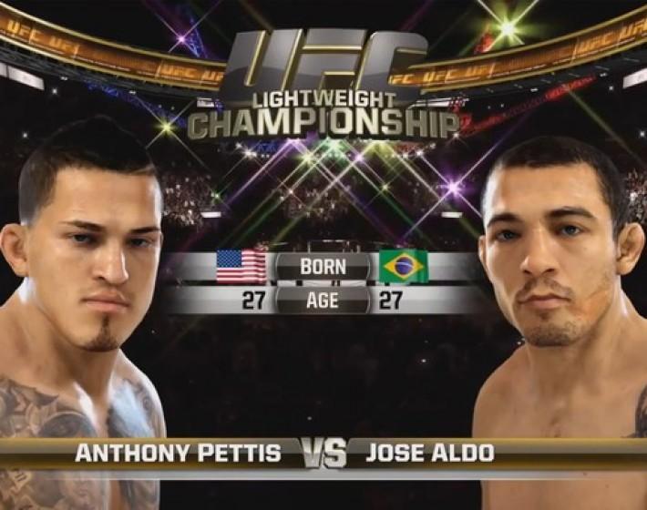 Vídeo de EA Sports UFC simula luta entre José Aldo e Anthony Pettis