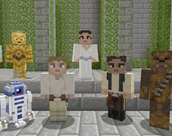 Minecraft terá DLC da trilogia clássica de Star Wars