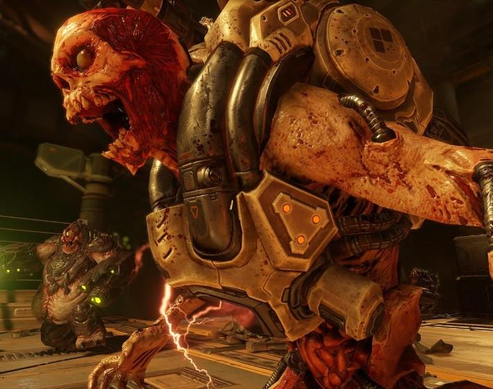 Gameplay: enfrentando demônios na Beta de Doom