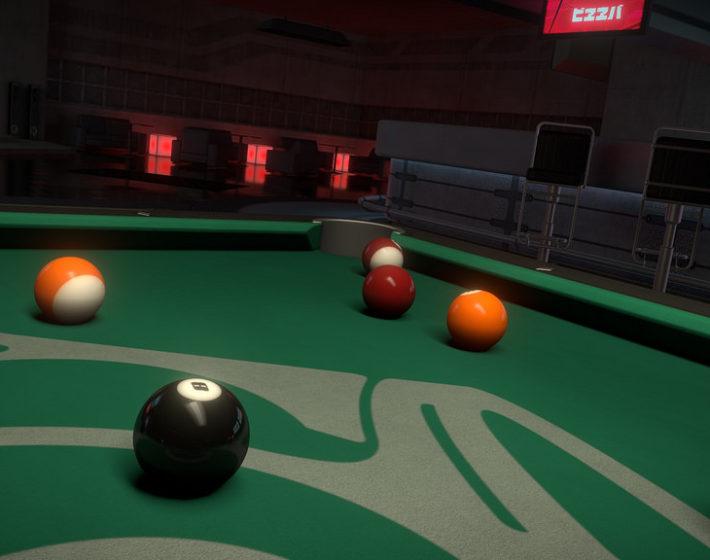 Gameplay – Hustle Kings: bola oito na caçapa do canto