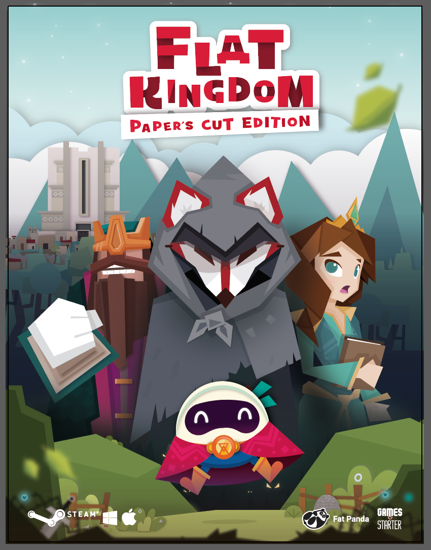 Capa de Flat Kingdom Paper's Cut Edition