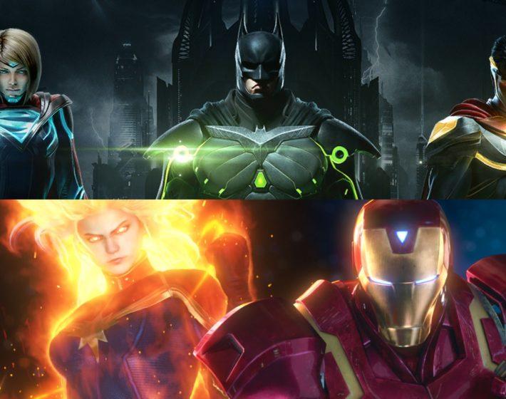 O combate de Marvel e DC nos jogos de luta