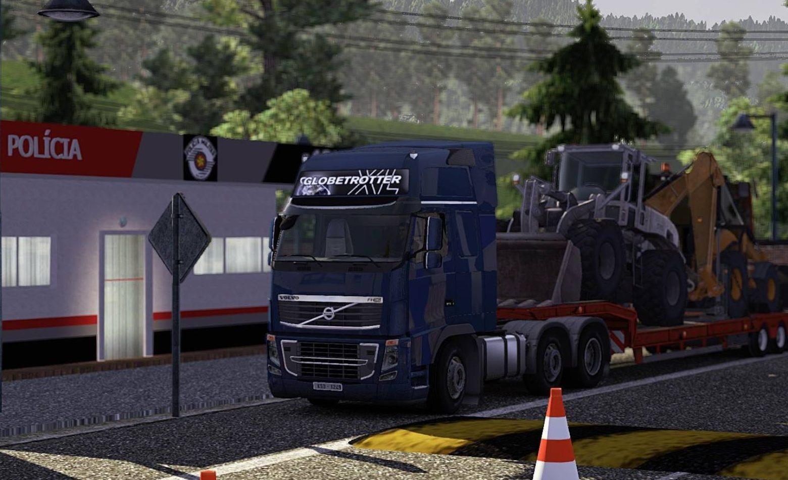 Viajando e conversando em Euro Truck Simulator 2 [Gameplay]